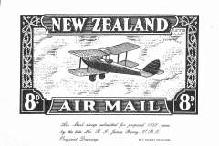 (Ephemera) Original Drawing for the proposed 1932 airmail stamp submitted by RG James Berry