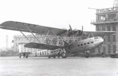 (Ephemera) Heracles HP42, Imperial Airways flying boat, operating on the London-European service c1931, B&W photograph from an original negative clearly showing the plane's name and registration number, 10x15cm. Watermark for display only.
