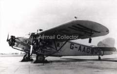 (Ephemera) Westand Wessex, three engined monopane, Imperial Airways , operating GWR Railway Air Service routes, B&W photograph from an original negative clearly showing the plane's registration number, 10x15cm. Watermark for display only.