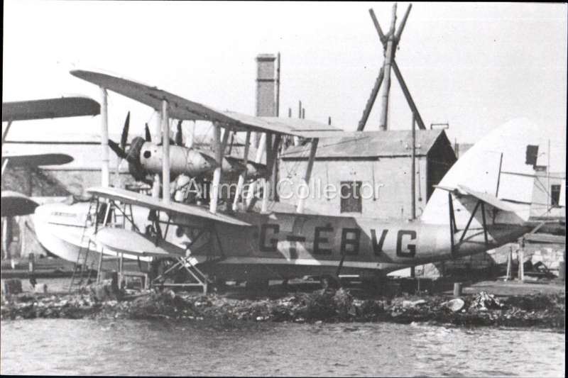 (Ephemera) Short S8 ' flying boat 'Calcutta', operating on the GB - India service c 1928. B&W photograph from an original negative showing the plane's name and registration number, 10x15cm. Watermark for display only.