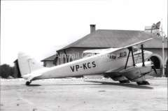 (Ephemera) Wilson Airways DH 90, the Kenya Colony services c1937, B&W photograph from an original negative clearly showing the plane's airline and registration number, 10x15cm. Watermark for display only.