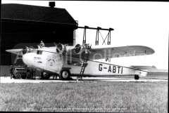 (Ephemera) Armstrong Whitworth Atlanta 'Arethusa G-ABTI, Imperial AW operating the South Africa - Kisumu route. B&W photograph c1933 from an original negative clearly showing the plane's and registration number, 10x15cm.  Watermark for display only.