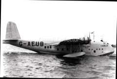 (Ephemera) Short S23 ' flying boat 'Camilla', operating on the IAW/Qantas South Africa-Australia service, crashed ort Moresby 1943. B&W photograph c 1938, from an original negative showing the plane's name and registration number, 10x15cm. Watermark for display only.