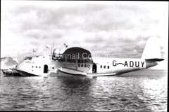 (Ephemera) Imperial Airways flying boat 'Capella', used on the Empire routes. B&W photograph c 1936, from an original negative clearly showing the plane's name and registration number, 10x15cm. Watermark for display only.