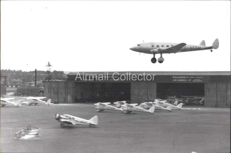 (Ephemera) De Havilland DH.91 Albatross, a four-engine British transport aircraft registered G-AFDM and delivered to Imperial Airways (later BOAC) as 'Fiona'. B&W photograph showing plane coming in to land, c 1939, from an original negative clearly showing the plane's name and registration number, 10x15cm. Watermark for display only.