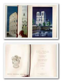 (Ephemera) BEA, three first class dining menus each with a front colour illustration of Notre Dame de Paris, the Coliseum of Rome, and the City Hall is Cardiff respectively, all fine. Image.