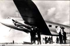(Ephemera) Imperial Airways,  DH.91 Albatross Frobisher on the tarmac, a four-engine British transport aircraft in the 1930s., original B&W photograph, 14x9cm.