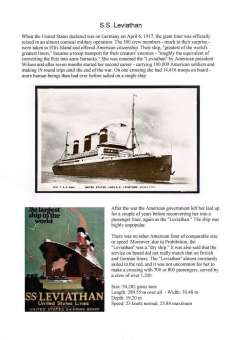 (Ephemera) S.S.Leviathan, original sepia photocard neatly mounted on album leaf with full text of history and details, see scan