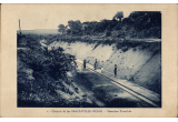 (Ephemera) French Congo, first phase of construction of railway from Brazzaville to the Atlantic coast, original B&W company PPC.