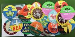 (Ephemera) Collection: BEA 24 luggage labels (15 different), all fine.