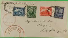 "(Haiti) F/F FAM 6  Port au Prince to Santo Domingo (Dominican Republic), red double ring ""Premier Vol"" and  circular ""Avion"" cachets , b/s, Pan Am"