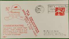 (United States Internal) United Sates, 50th anniversary 1st Air Mail service in New Jersey, South Amboy-Perth Amboy, cachet, b/s