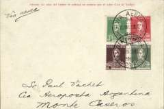 (Argentina) Aeroposta Argentina, Buenos Aires-Monte Caseros, carried on the second Buenos Aires-Asuncion flight, bs 22/3, red/cream 5c PSC (H&G #1) with additional 15c for airmail postage, The flight's departure was delayed by fog at Buenos Aires before leaving mail at landed at Monte Caseros to refuel before continuing on the Asuncion, with another stop at Posadas. Mounted on album page with map of route, and 140 word account of the journey by Annie Peck, a passenger on this flight. Only 12 pieces of mail were carried to Monte Caseros on this flight.
