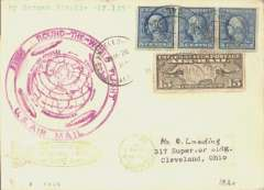 (Airship) LZ 127, Round the World flight, Los Angeles to Lakehurst, bs US green Aug 29 'Zeppelin' arrival ds on front, airmail cover franked 60c, large circular violet flight confirmation cachet, Si 29A (75 Euro).