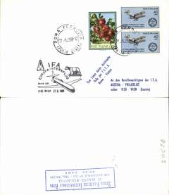 (Italy) F/F Rome-Vienna, special arrival cachet ds on front.