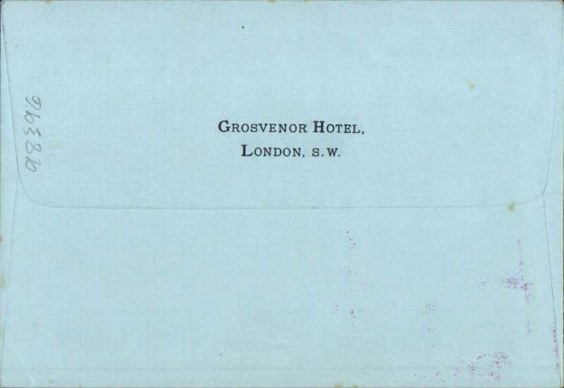 (GB Internal) Apex International Air Post Exhibition, London, cover printed Grosvenor Hotel London on flap, franked 1 1/2d, canc special Exhibition winged 11 May 34 postmark, red 'Apex 1934/London 7-12 May' cachet.
