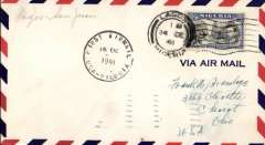 (Nigeria) Pan Am clipper service to Africa,  F/F FAM 22  Lagos to San Juan, airmail cover franked 2/6d, 'First Airmail/USA-Nigeria' cachet, b/s. This strategically important service, linking Africa and the USA, opened just at the critical time when Japan attacked Pearl Harbour and the USA went to war.