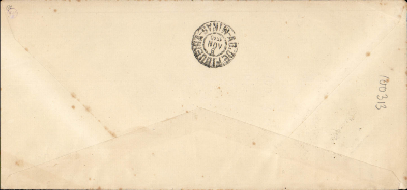 (Brazil) Panair Do Brasil, F/F from Rio de Janero to Governador Valladares, bs 8/11, blue/cream Panair Do Brasil company corner cover franked 1200RS, official violet circular flight cachet. Uncommon.