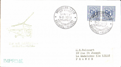 (Belgium) F/F Brussels to Lille, bs 5/8, black cachet.