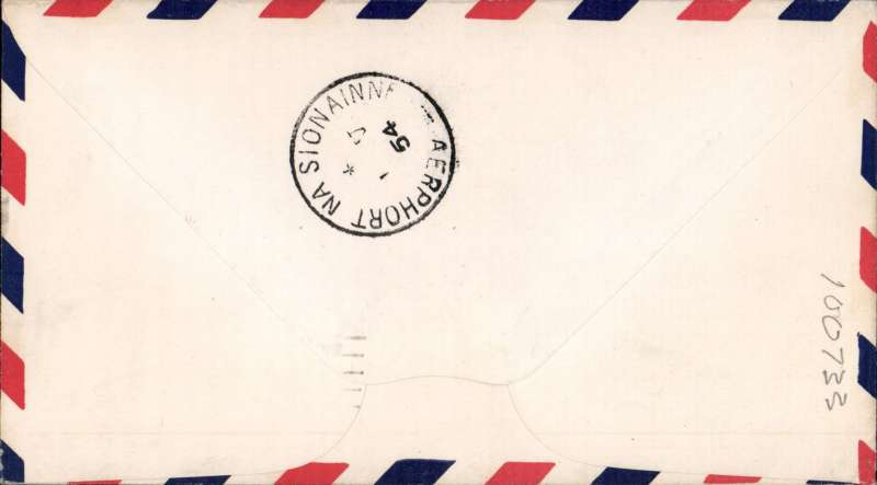 (United States) Scarce F/F Chicago to Ireland, bs Shannnon Airport 1/5, and Luimneach 2/5 tying Eire 1/3d to confirm arrival, airmail cover franked 15c canc Chicago AMF. Toning on front (see scan) but a very scarce item this not withstanding.