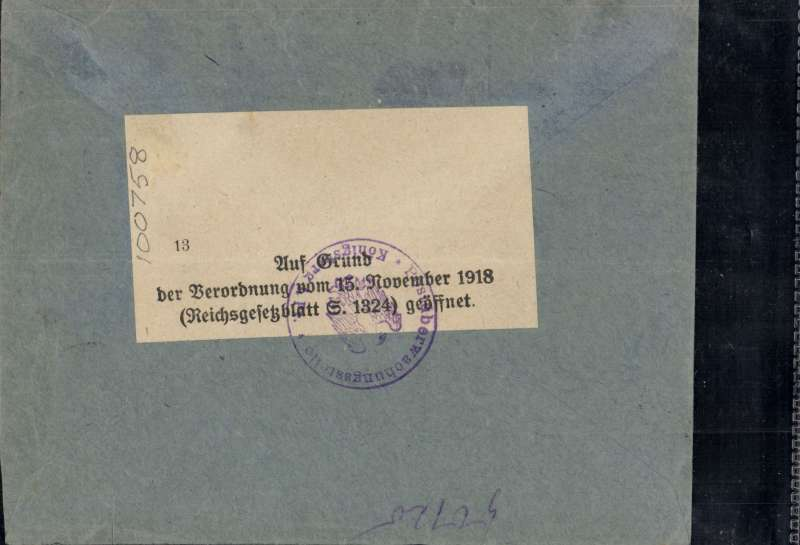 (Lithuania) DNR/Danziger LR, Memel to Konigsberg, no arrival ds, registered (label) cover franked 1921 airs with Flugpost opt 80pf, 1m, 2m, 3m and 4m, canc Memel/**C cds, ms 'Durch Flugpost/Einschreiben'. Some small sellotape strips along part of top and lower edge. Hardly detracts - see scan.
