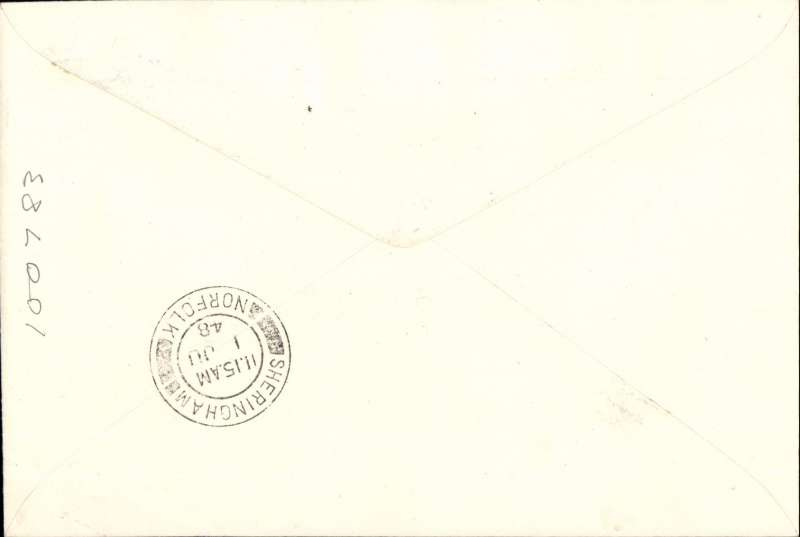 (GB Internal) Inauguration first helicopter-operated public mail service, Peterborough to Sheringham, bs, printed souvenir cover, BEA