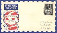 (Nigeria) West African Feeder Service , F/F Kaduna-Oshogbo, bs, attractive Philatelic magazine cover, Imperial Airways.