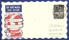 (Nigeria) West African Feeder Service , F/F Kano-Oshogbo, bs, attractive Philatelic magazine cover, Imperial Airways.
