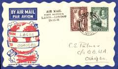 (Nigeria) West African Feeder Service , F/F Lagos-Oshogbo, bs, attractive Philatelic magazine cover, Imperial Airways.