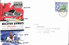 (North Borneo) First Friendship Flight, North Borneo to Kuala Lumpur, bs 10/9, flown Malayan Airways souvenir company cover franked North Borneo 20c.