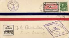 (Canada) Western Canada Airways Ltd,  F/F Goldpines to Favourable Lake, airmail cover franked 2c  and CL40 stamp, special Favourable Lake arrival cds on front,  and violet diamond Goldpines - Favourable Lake F/F cachet.