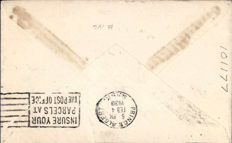 (Canada) Cherry Red Airline Ltd, F/F Ile a La Cross to Prince Albert, bs 4/2, plain cover franked 2c, also black/red/white CL46 tied by red 'Cherry Red Airline Limited' hs,
