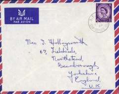 (Christmas Island) 1961 Christmas Island to England airmail cover rated 3d canc BFPO cds  EBAY