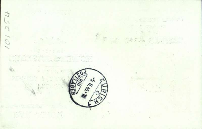 (Belgium) Sabena F/F direct Brussels to Zurich, bs 5/2, souvenir 1F PSC  with additional 3F25.