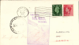 (GB External) Imperial Airways, F/F Third Stage EAMS, London to Samoa, Apia 30/8 arrival cdss' front and verso, plain cover franked 1 1/2d, large purple framed 'Empire Air Mail Scheme' cachet.