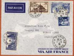 (France) Air France South Atlantic service, France to Argentina, Paris to Buenos Aires, bs 21/5, orange/grey Air France envelope franked 8F50.