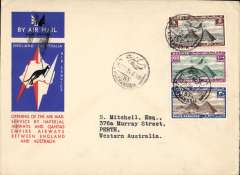 (Egypt) Alexandria to Australia, first acceptance of African 'all the way' airmail for Australia for carriage on the Imperial Airways African service to Cairo to connect with the first extension of the IA/ITCA/Qantas service from Singapore to Brisbane, official 'Kangaroo' cover franked 135ml canc Alexandria 10 Dec 34 cds.