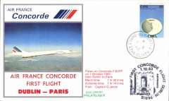 (Concorde) Air France Concorde, F/F Dublin - Paris, souvenir cover.
