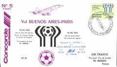 (Concorde) Air France Concorde, return of special flight carrying the French football team to the World Cup, Buenos Aires-Paris , 24May 78 Charles de Gaule airort receiver.