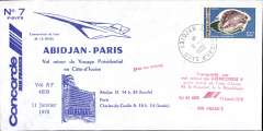 (Concorde) Concorde, Ivory Coast presidential flight, Abidjan to Paris, bs.