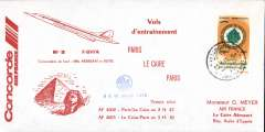 (Concorde) Concorde Air France, Pars to Cairo, and return.
