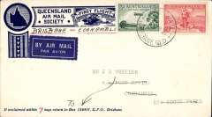 (Australia) WASP F/F Brisbane to Coonamble, bs 28/5, printed Queensland Air Mail Society cover franked 5d.