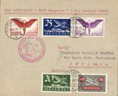 (Airship) Graf Zeppelin 1st South America flight, Switzerland to Seville, bs Seville Aero 19/5, plain cover franked 1923 air 20c,25c,50c,75c (SG £42 used, and 1F, red flight confirmation cachet.