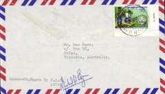 (Papua and New Guinea) Provincial Air Services, Wewak to Mount Hagen, airmail cover franked 15c, POA 'Mount Hagen/PNG/