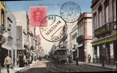 (France) Bernard & Guilband pioneer flight, France to Madagascar, one of only 14 cards caried on the Las Palmas to Mauritania stage, attractive PPC franked 25c, canc 'Las Palmas/16 Oct 26/Canarias', 'Port Etienne/17 Oct 26/Mauritania' arrival ds on front, fine strike violet framed 'Voyage Aerien/France-Madagascar' flight cachet verso.