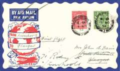 (GB Internal) Railway Air Service, F/F New Contract, Liverpool to Glasgow, Philatelic Magazine cover, franked 1 1/2d.