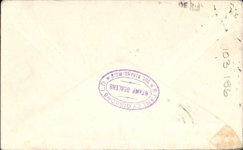 (Singapore) F/F Singapore to London, no arrival ds, official blue/red cover, IAW/ITCA