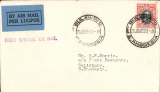 "(Southern Rhodesia) F/F Bulawayo to Salisbury, bs 28/1, carried on 1st regular Cape Town to London service, black st. line ""First Official Air Mail"" cachet, plain cover franked 4d."