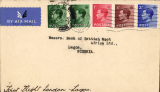 """(GB External) F/F London to Lagos on first Kano-Lagos extension of London-Nigeria service, typed endorsement """"First Flight Air Mail to Lagos"""", bs 22/10, Imperial Airways"""