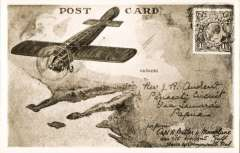 (GB Internal) London International Air Post Exhibition 1934, unused souvenir postcard showing real photo reproduction of the flight by Captain H Butler, KFC across the Gulf of St. Vincent, South Australia, August 1919.